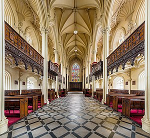 Chapel Royal, Dublin - The interior of the chapel looking east toward the stained glass