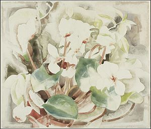 Helen Birch Bartlett Memorial Collection - Image: Charles Demuth Flowers (Cyclamen)