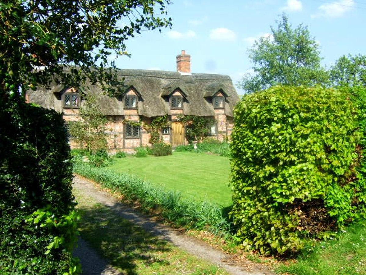 Checkley cum Wrinehill - Thatched Cottage, Checkley.jpg