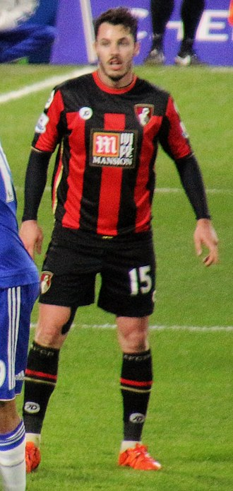 Adam Smith (footballer, born 1991) - Smith playing for AFC Bournemouth in 2015