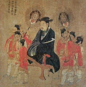 "Ruyi (scepter) - Emperor Xuan of Chen holding a ruyi, Yan Liben's ""Thirteen Emperors Scroll"", 7th century"