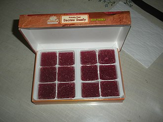 Opuntia - A box of prickly pear candy. These are often sold in Southwest U.S. gift shops.