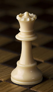 Queen (chess) chess piece, able to move any number of squares vertically, horizontally or diagonally
