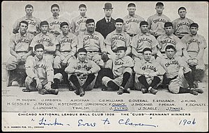 Baseball's Sad Lexicon - The 1906 Chicago Cubs