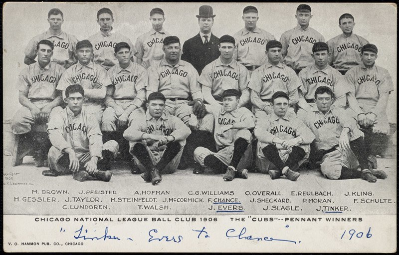 Chicago Cubs team picture, 1906