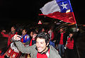 Chile fans at Brazil & Chile match at World Cup 2010-06-28 2.jpg
