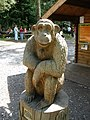 Chimpanzee sculpture, 'Going Ape', Haldon Forest Park - geograph.org.uk - 1429292.jpg