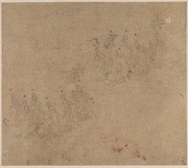 Album of Daoist and Buddhist Themes: Procession of Daoist Deities: Leaf 25