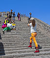 Chinese tourists taking pictures of themselves on Great Wall.jpg