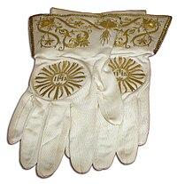 Білі літургічні рукавиці