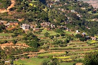 Chobhar Village in Bagmati Zone, Nepal