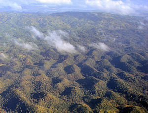 Aerial view of the Chocolate Hills, Bohol, Phi...