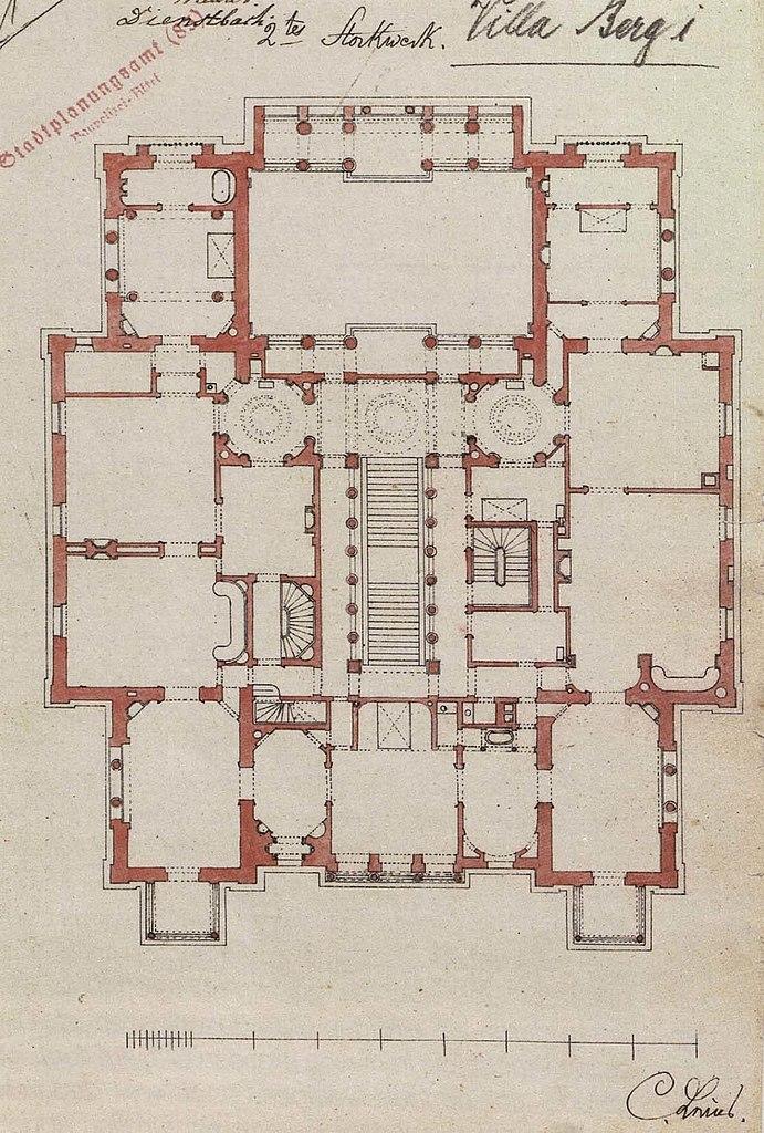 file christian friedrich von leins villa berg grundriss des obergeschosses. Black Bedroom Furniture Sets. Home Design Ideas