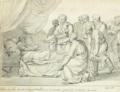 Christoffer Wilhelm Eckersberg - En døende far formaner sønnerne til enighed - 1805.png