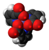 Spacefill model of chromium (III) picolinate