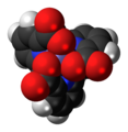 Chromium(III) picolinate 3D spacefill.png