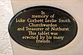 Church of St Andrew, Nuthurst; Luke Corbett Leslie Smith memorial.jpg