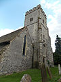 Church of the Holy Cross, Goodnestone - tower from north-west.jpg