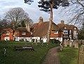 Churchyard and houses - geograph.org.uk - 1176607.jpg