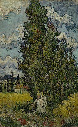Cipressen en twee vrouwen - s0147V1962 - Van Gogh Museum