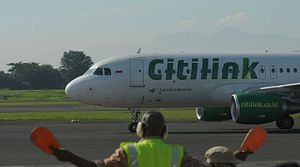 Halim Perdanakusuma International Airport - Image: Citilink di bandara halim perdanakusuma