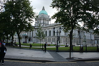 Donegall Square square in the centre of Belfast, County Antrim, Northern Ireland