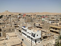 The modern town of Palmyra