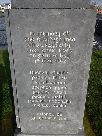 Galway Bay - Cladagh Memorial opposite St Mary's Church, the Claddagh, Galway