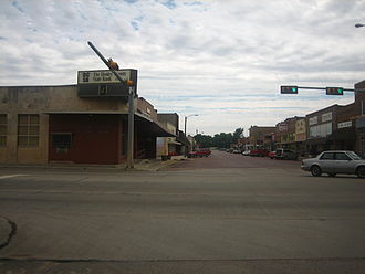 Clarendon, Texas - The streets of Clarendon