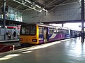 Class 144 Pacer no.144019 in Northern Rail livery at Leeds Railway Station platform 1c (geograph 4291781).jpg