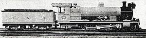 South African Class 2C 4-6-2 - NGR Class A, c. 1910