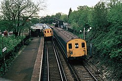 Class 416s at Sanderstead railway station (1983).JPG