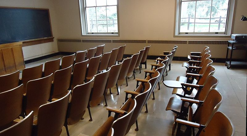 File:Classroom with chairs and blackboard at Cornell University.jpg