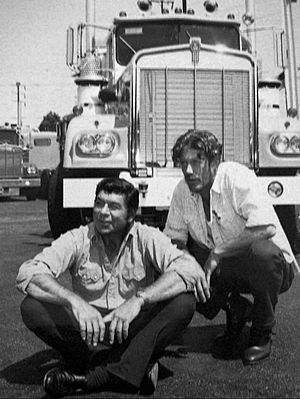 Movin' On (TV series) - Image: Claude Akins Frank Converse Movin On 1974