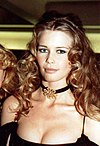 Colour photograph of Claudia Schiffer in 1993