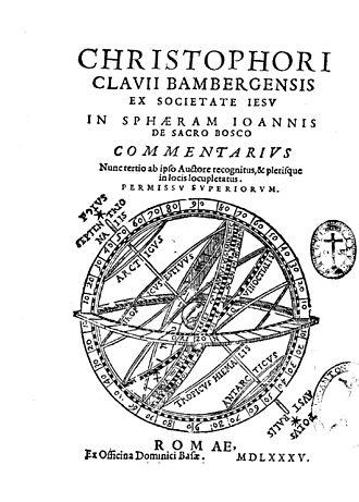 Christopher Clavius - In Sphaeram Ioannis de Sacro Bosco commentarius, 1585