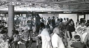 Cleveland Lakefront Station - Cleveland Lakefront station after dedication ceremony, July 1977
