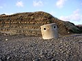 Cliff and concrete pillbox at Kimmeridge Bay beach - geograph.org.uk - 25151.jpg