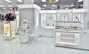 Clinique - Clinique counter at a Farmers department store