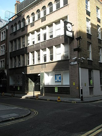 The Jewish Chronicle - The former Jewish Chronicle offices in Furnival Street, central London