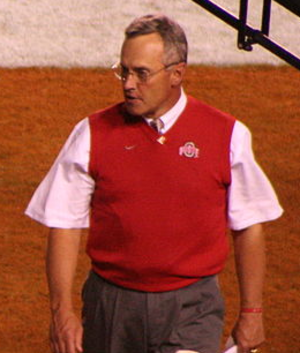 Jim Tressel - Tressel's sweater vest became an iconic trademark for the coach, especially after he went to Ohio State.