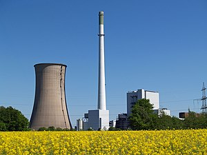 Thermal pollution - Cooling tower at Gustav Knepper Power Station, Dortmund, Germany