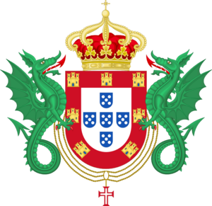 House of Braganza-Saxe-Coburg and Gotha - Image: Coat of Arms of the Kingdom of Portugal (1640 1910)