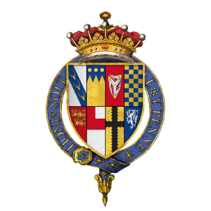 Edward Stanley, 3rd Earl of Derby - Arms of Sir Edward Stanley, 3rd Earl of Derby, KG