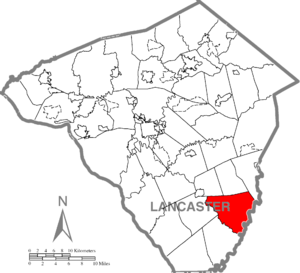 Colerain Township, Lancaster County, Pennsylvania - Image: Colerain Township, Lancaster County Highlighted