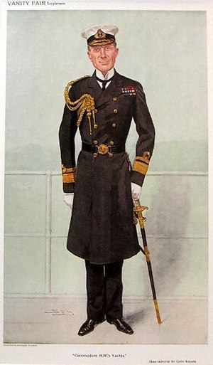 Colin Richard Keppel - Keppel caricatured by Spy for Vanity Fair, 1909