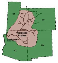 Colorado Plateau Map Colorado Plateau   Wikipedia