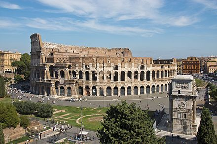 The Colosseum, the largest amphitheatre ever built