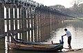 Coming Ashore, U Bein Bridge in Amarapura.jpg
