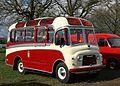 Commer short bus at Weston Park on Easter Sunday.JPG